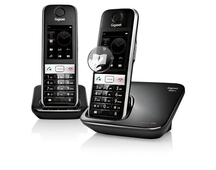 siemens gigaset s820a duo phone system. Black Bedroom Furniture Sets. Home Design Ideas