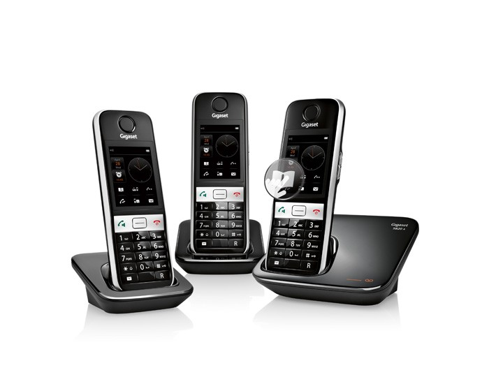 siemens gigaset s820a trio phone system. Black Bedroom Furniture Sets. Home Design Ideas
