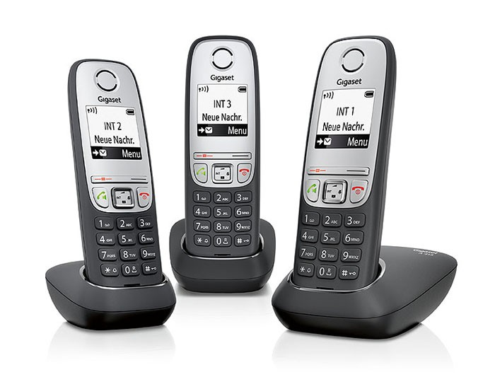 siemens gigaset a415 trio cordless phone set. Black Bedroom Furniture Sets. Home Design Ideas