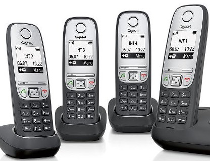 Siemens Gigaset A415 Quad Cordless Phone Set Siemens Pabx Phone Systems