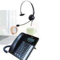 sela kt-9600 headset phone combo